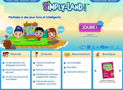 Simply Land Site De Jeux Pour Enfants